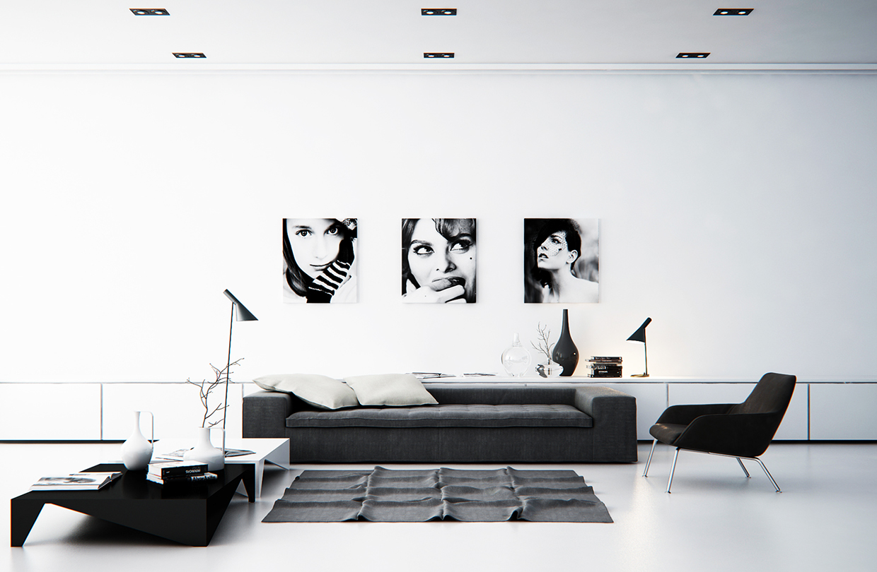 Black And White Living Room Part 81