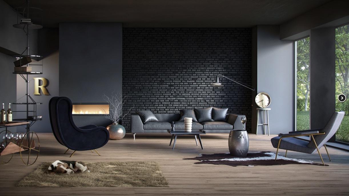 Leqb Architecture Black Living Room Design Ideas