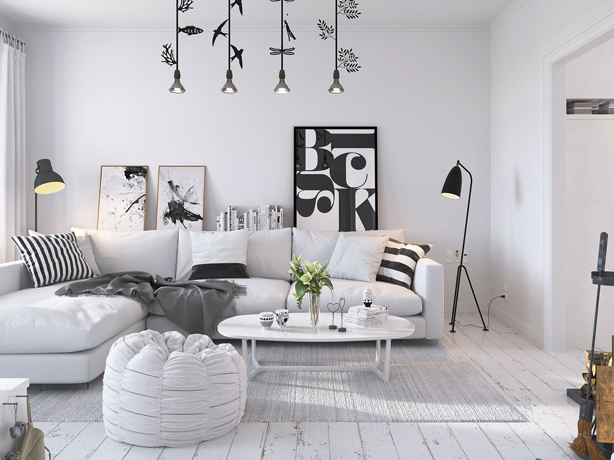 Fascinating scandinavian living room designs combined with for Interior motives accents and designs