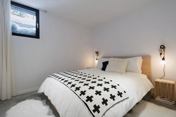 Contemporary bedroom design interior
