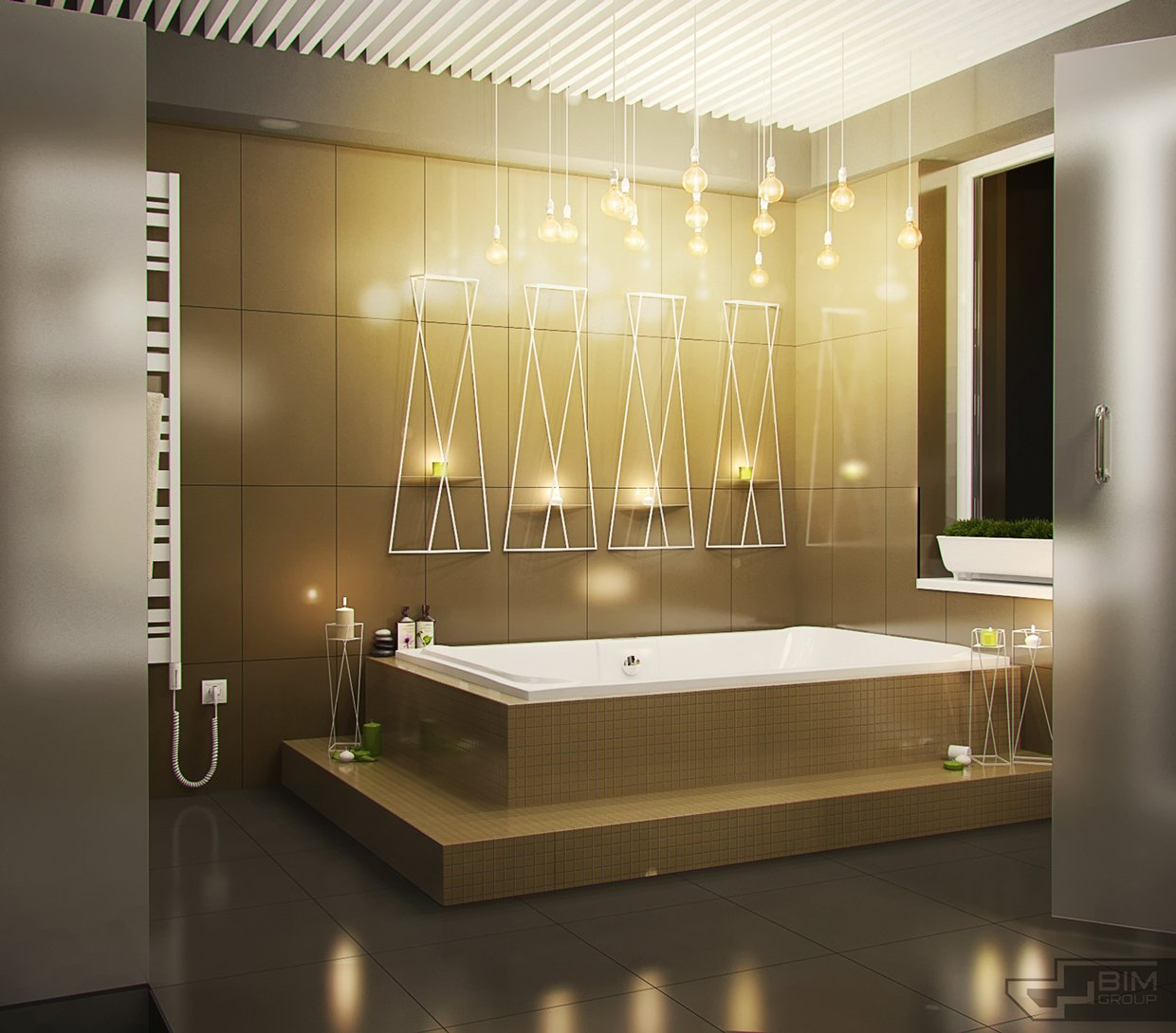 Decorating bathroom backsplash ideas showing a modern and for Bathroom lighting design