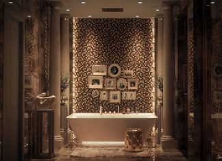 creative tile bathroom design