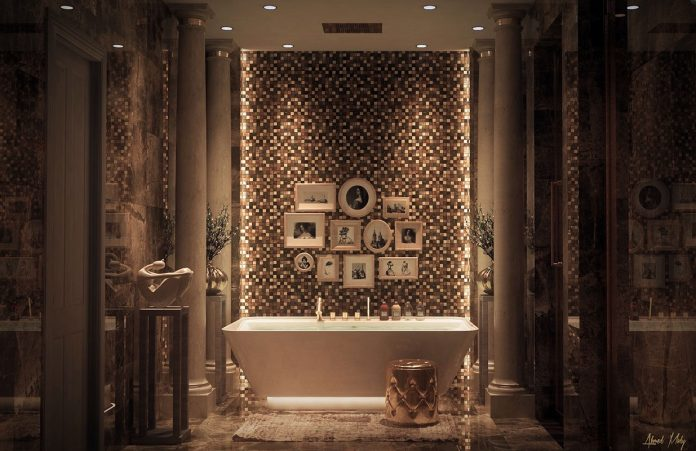 creative tile bathroom design