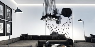 creative light fixture living room