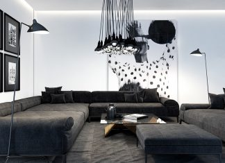 creative light fixture living room