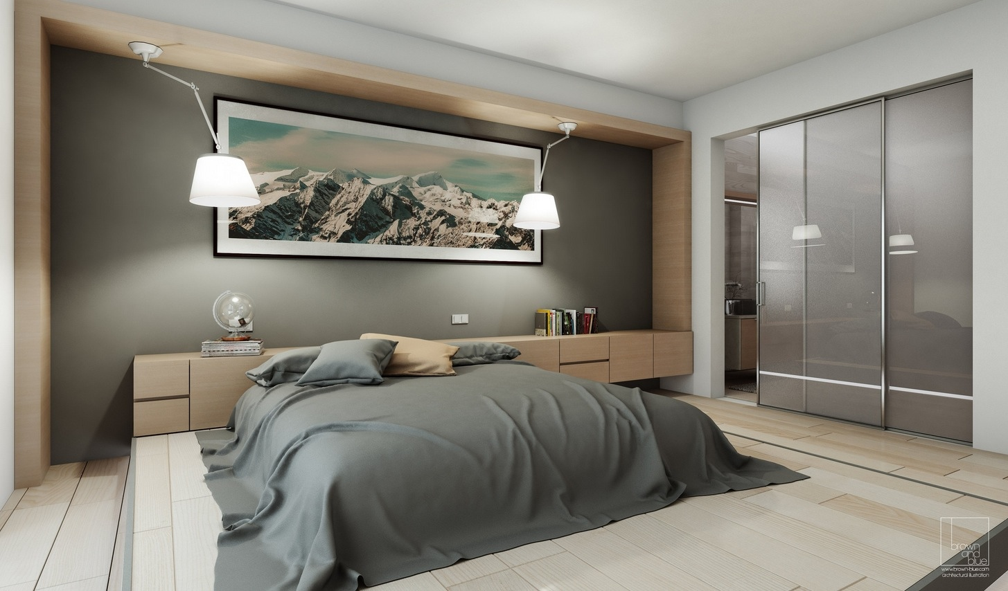A variety of gorgeous bedroom designs with trendy wooden for Design interieur chambre a coucher
