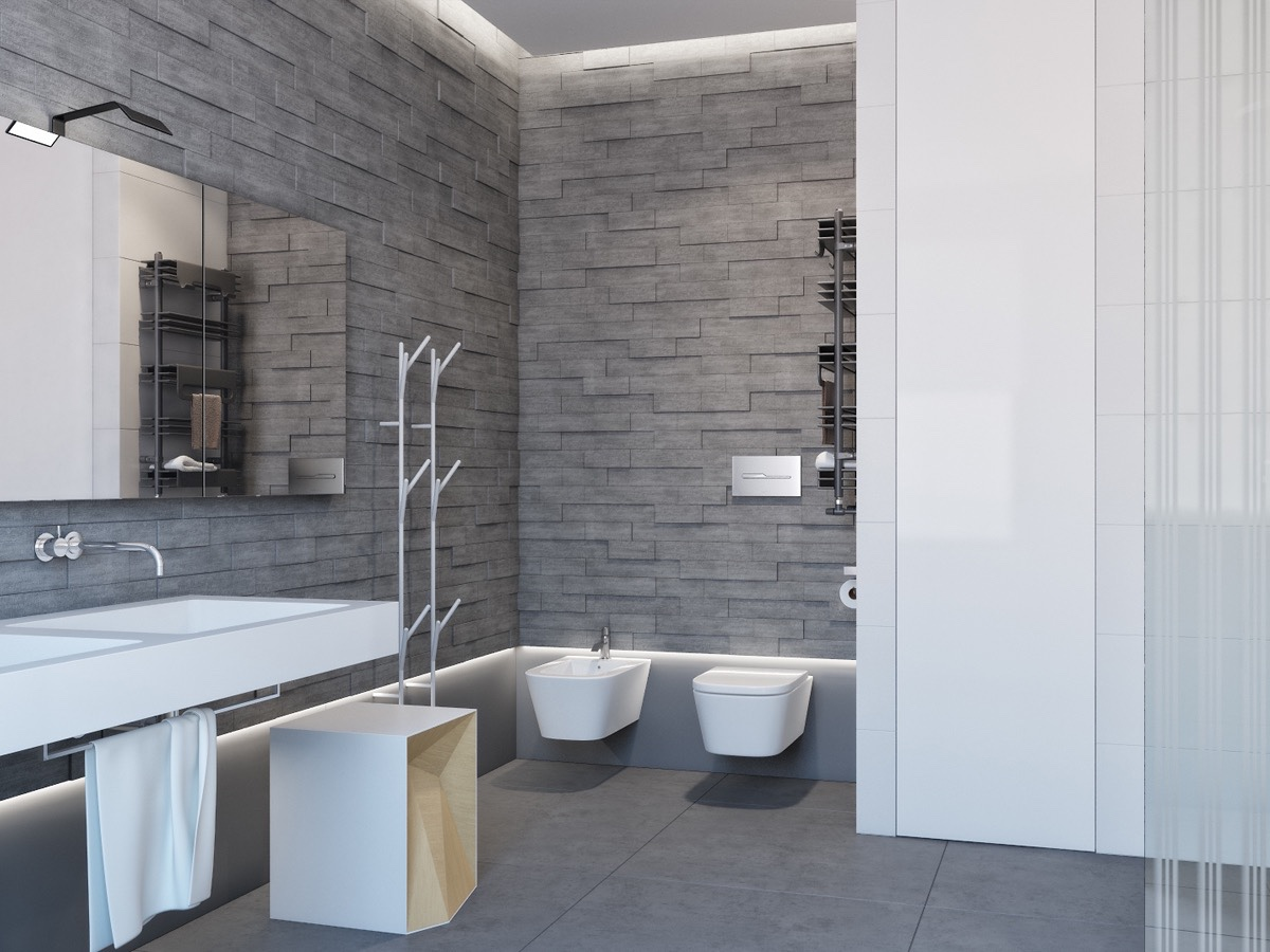 stone wall texture bathroom