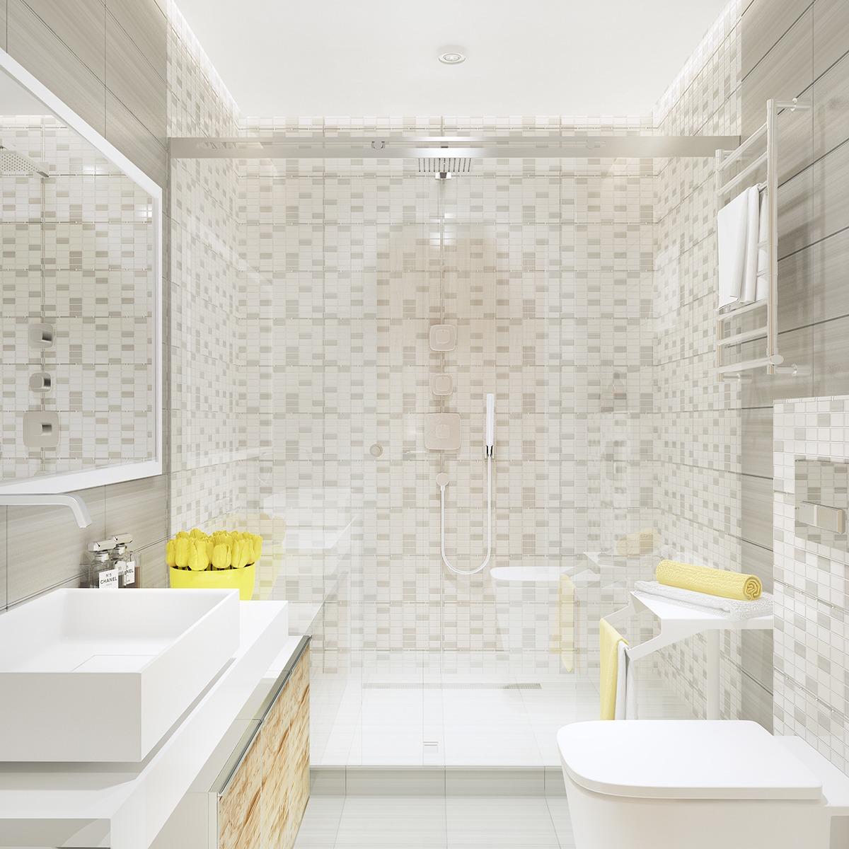 white tile bathroom design