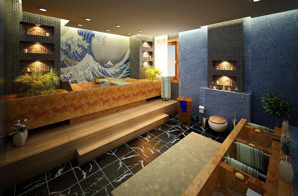 Decorating minimalist bathroom designs look so beautiful and modern with dashing backsplash - Bathroom design studio ...