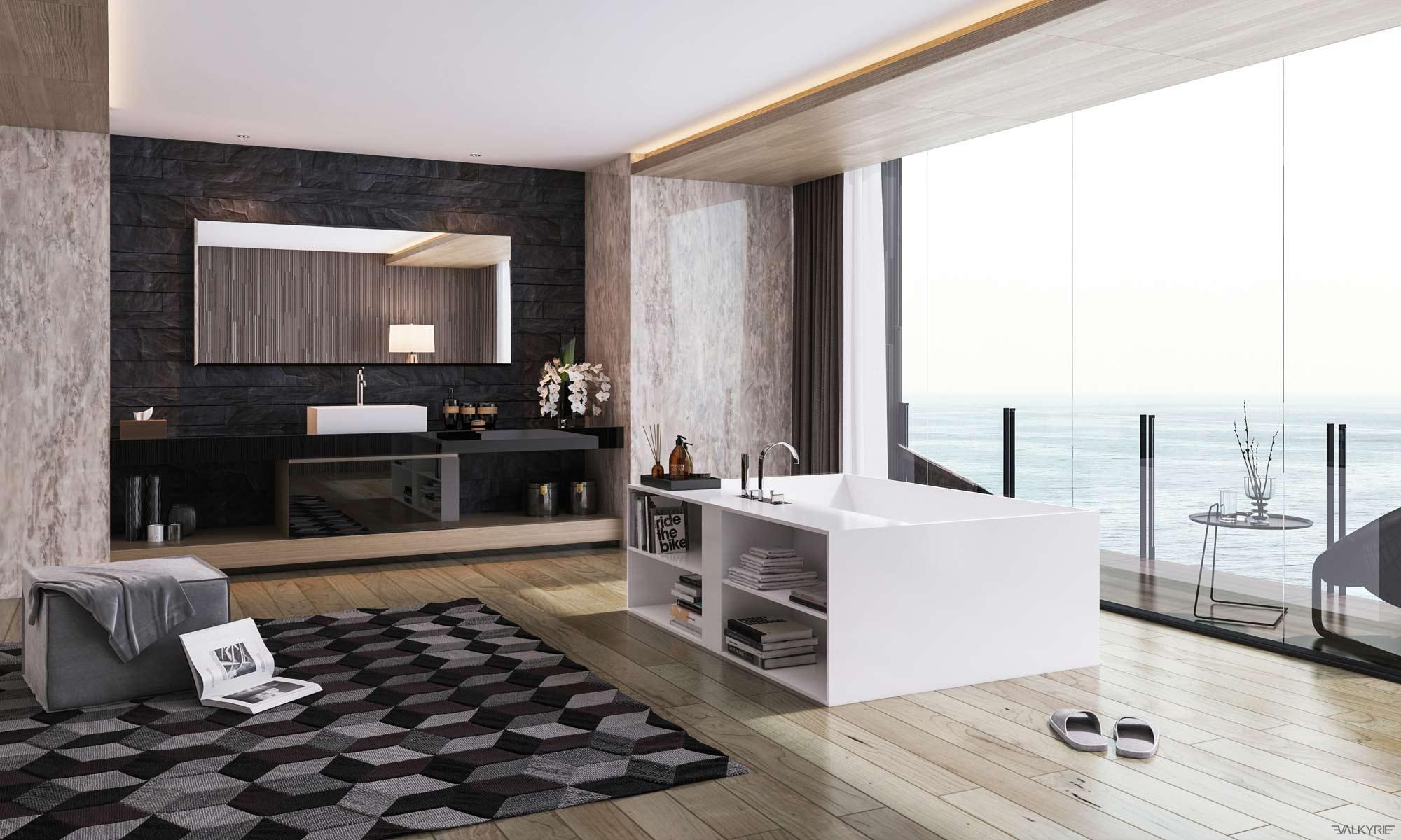 luxury masculine bathroom design