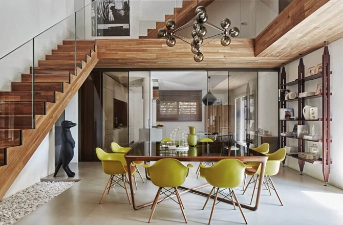 modern diningroom decoration - 26+ Two Storey Small Wooden House Design Pictures