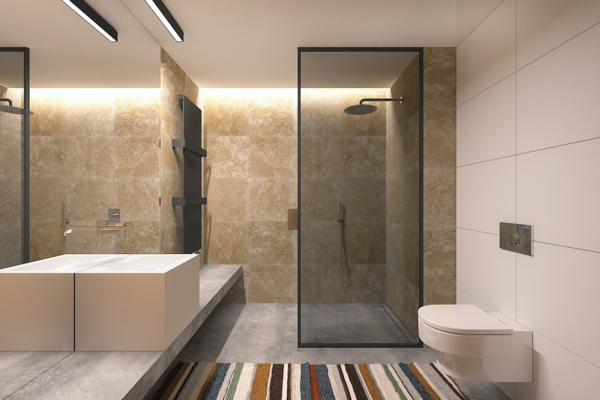 Small bathroom design ideas with awesome decoration which for Modern apartment bathroom ideas
