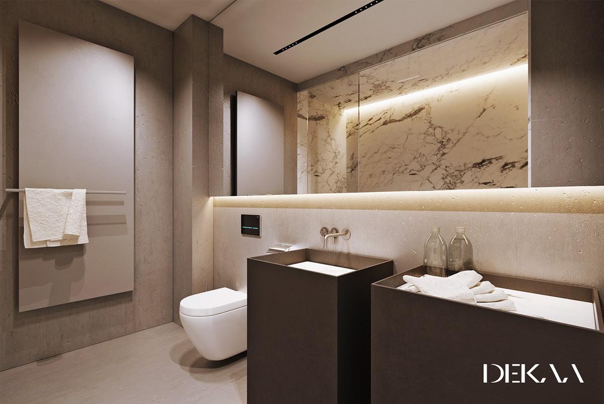 neutral marble bathroom materials