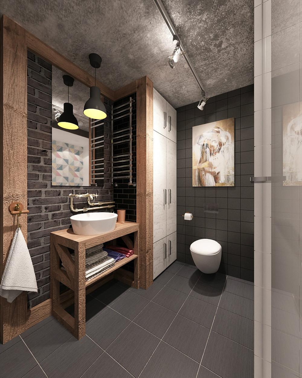 gray bathroom design