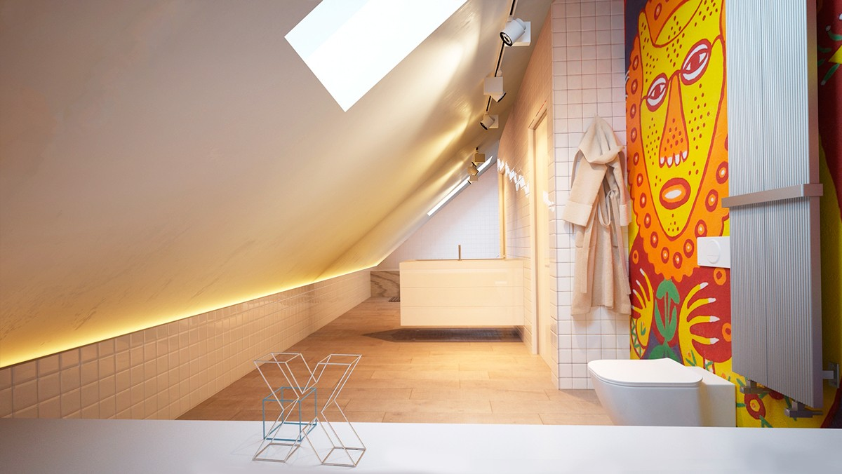 pop art bathroom design
