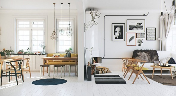 Scandinavian apartment decoration ideas