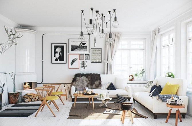 Featuring Scandinavian Apartment Decoration Ideas Beautified With ...
