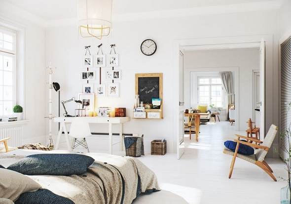 Scandinavian bedroom decorating ideas