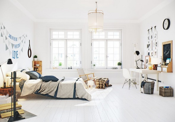 Scandinavian bedroom design ideas
