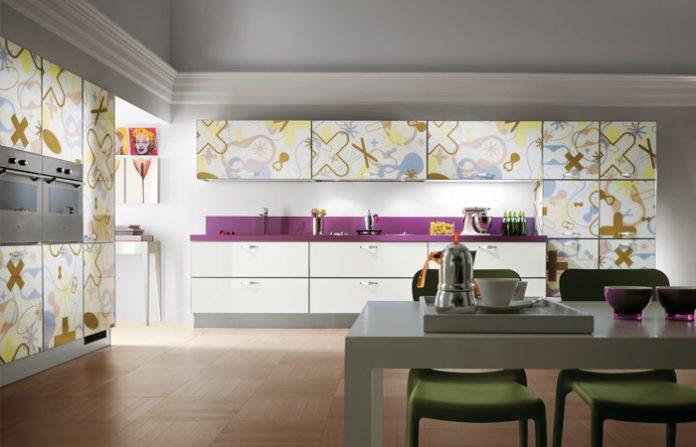 scavolini pastel graphic print cabinets