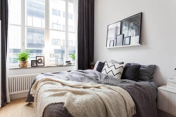 Simple bedroom interior