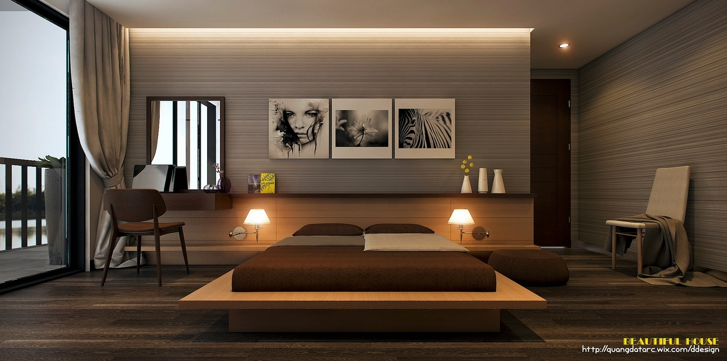 sleek bedroom design