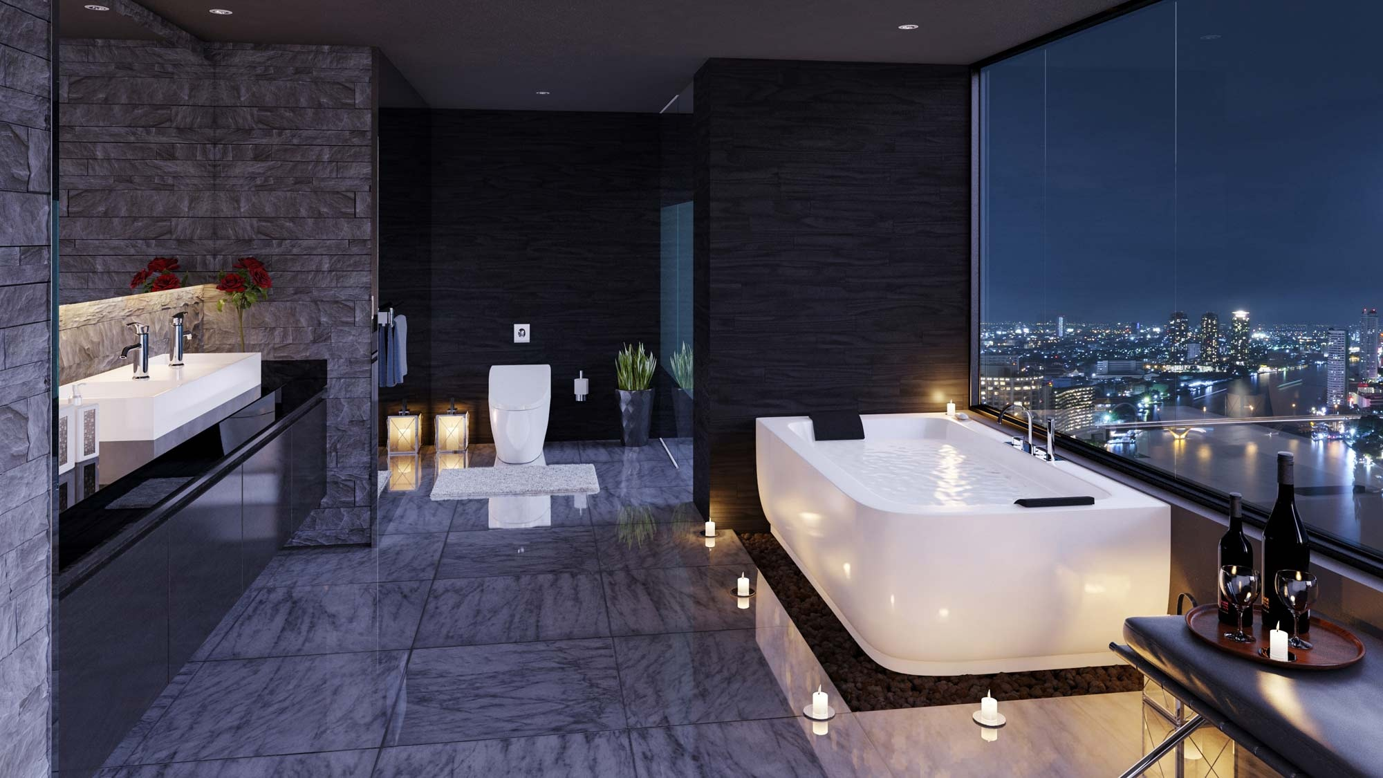 luxury bathroom decor