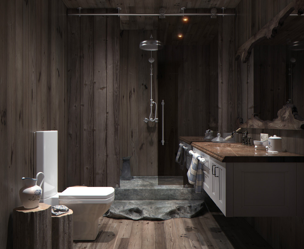 Decorating Dark And White Bathroom Ideas With A Cool