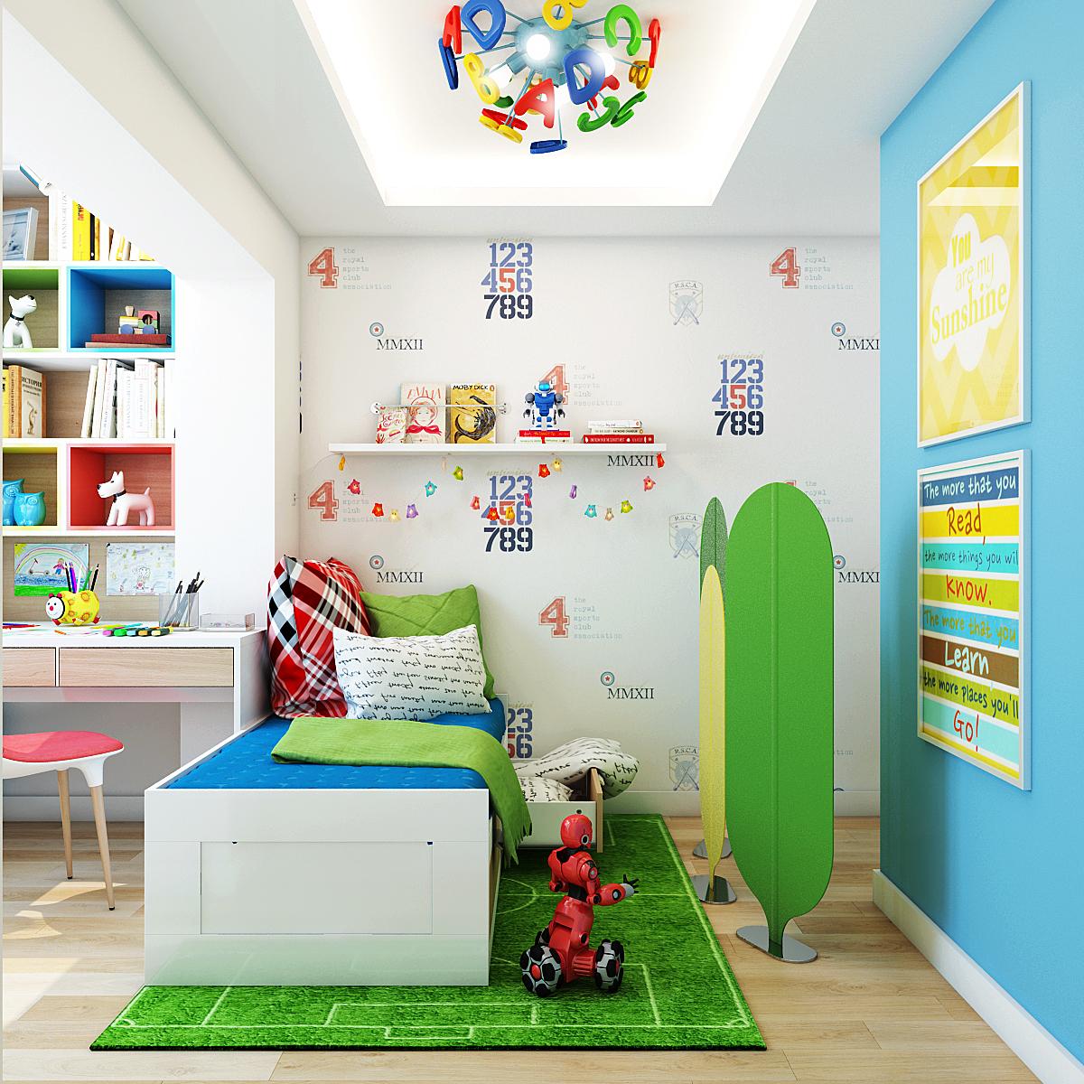 cheerful kids room design