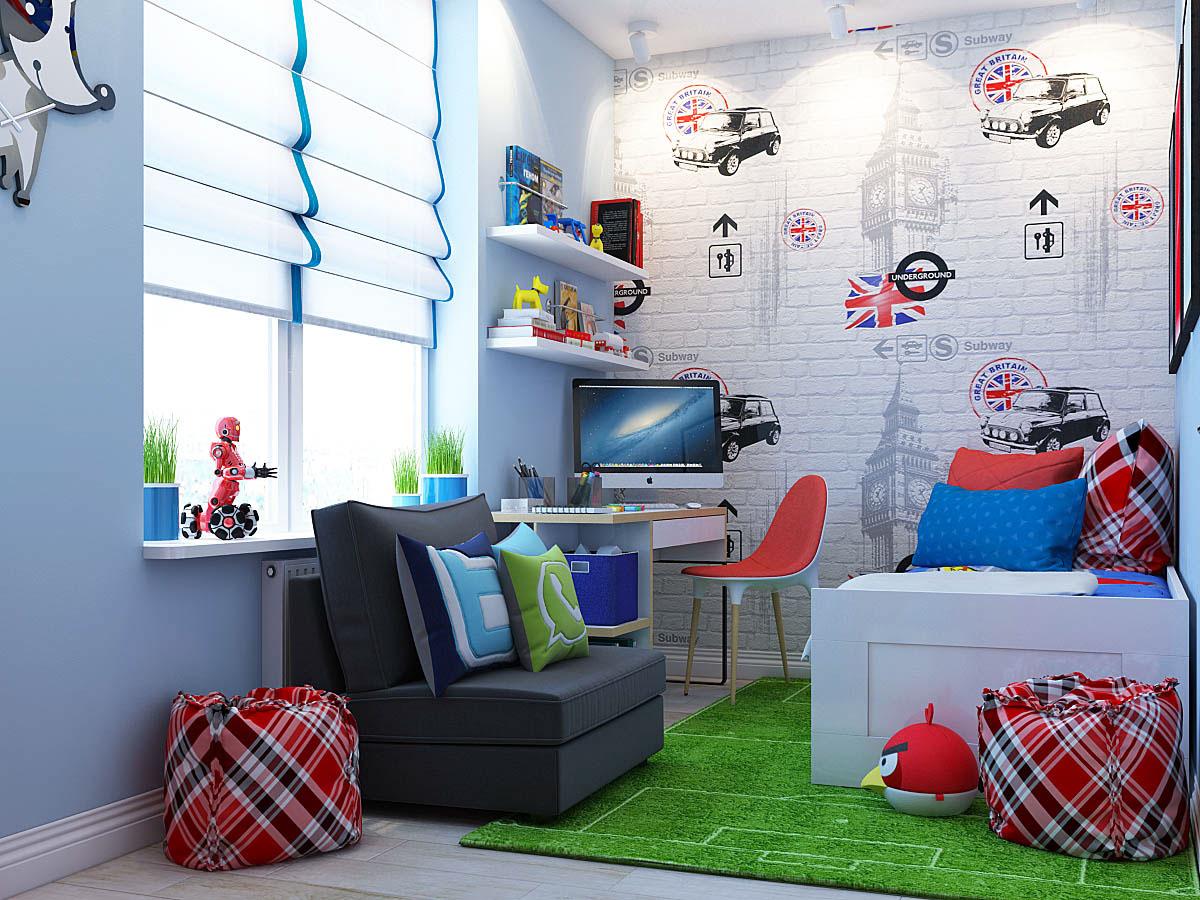 colorful kids room design