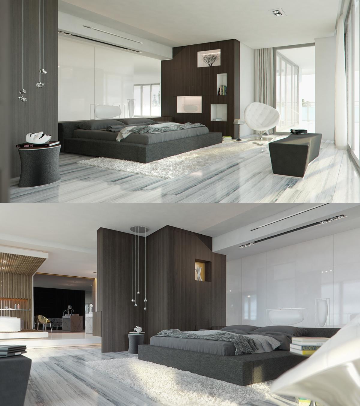 elagnt gray bedroom decor