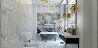 spacious bathroom design