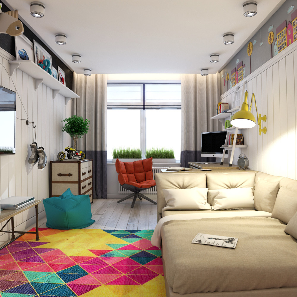 colorful teen room design