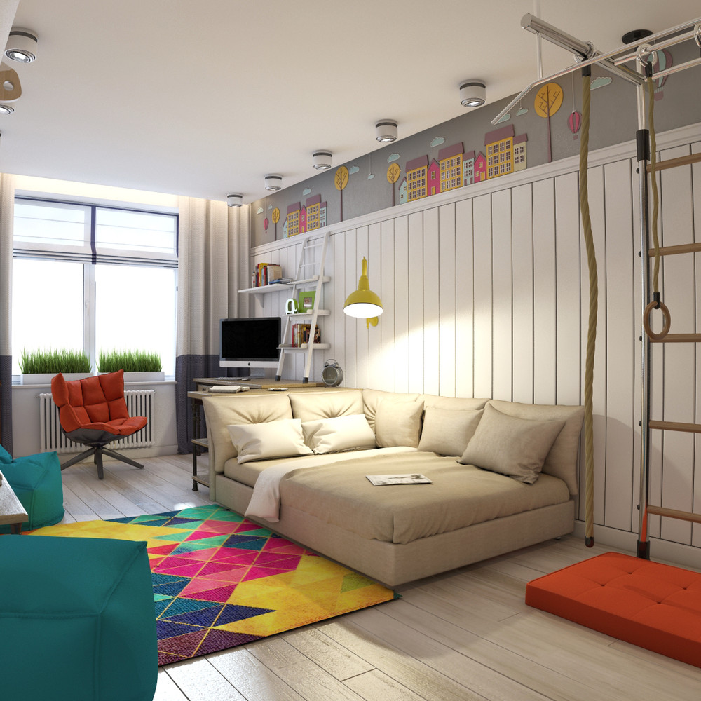 contemporary teen room design