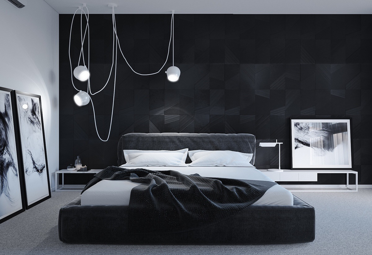 gorgeous dark bedroom design