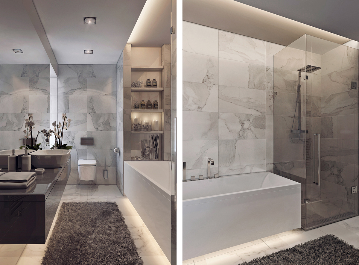 white luxury bathroom design - Contemporary Bathroom Designs Uk