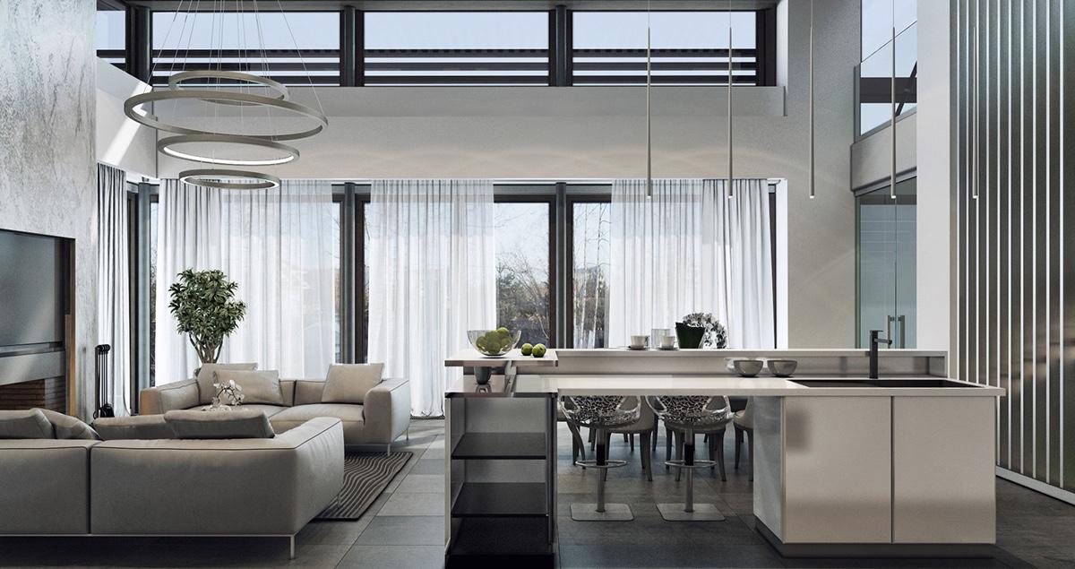 luxury gray house design