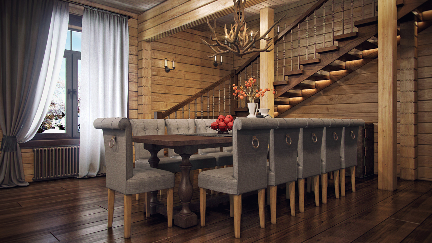 modern living room with wooden