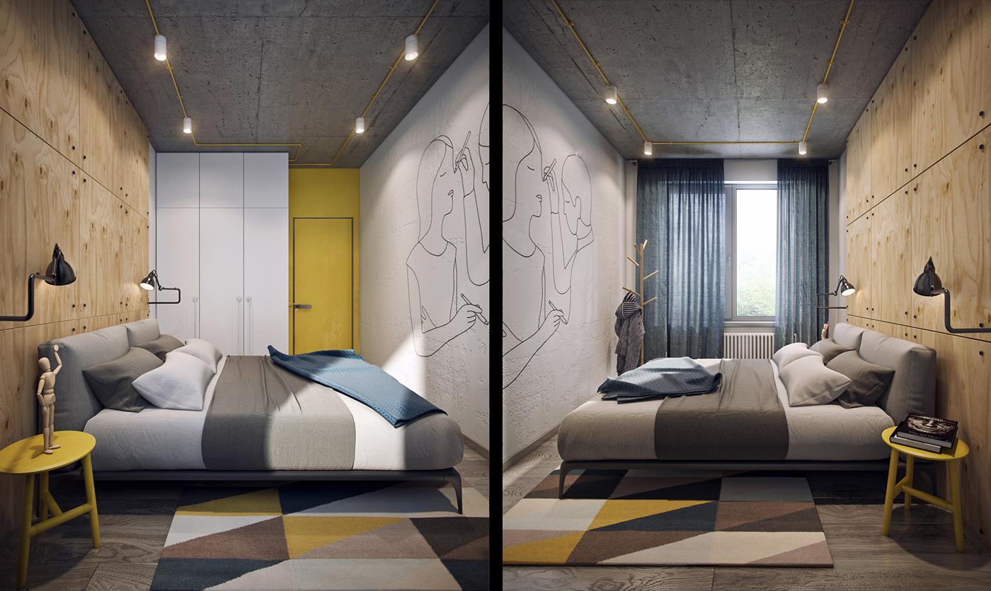simple modern bedroom design