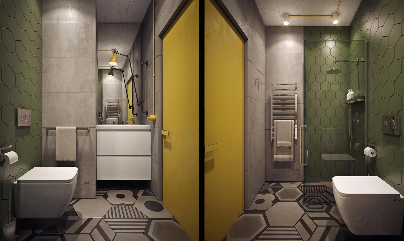 trendy wall bathroom design