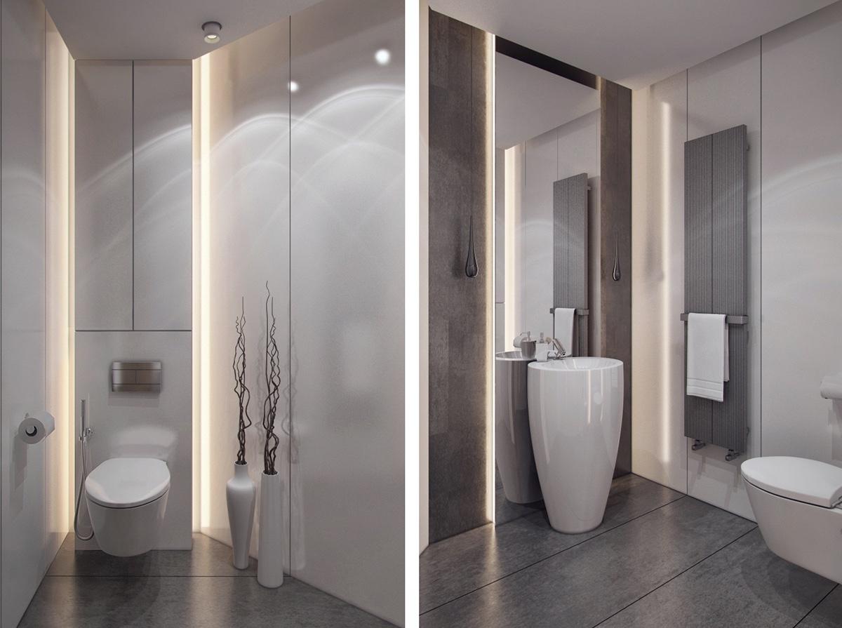 gray stylish bathroom design