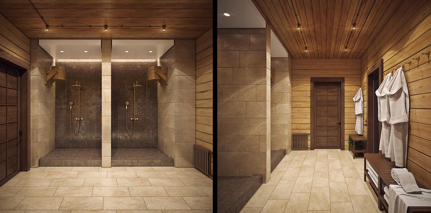 contemporary spa room design