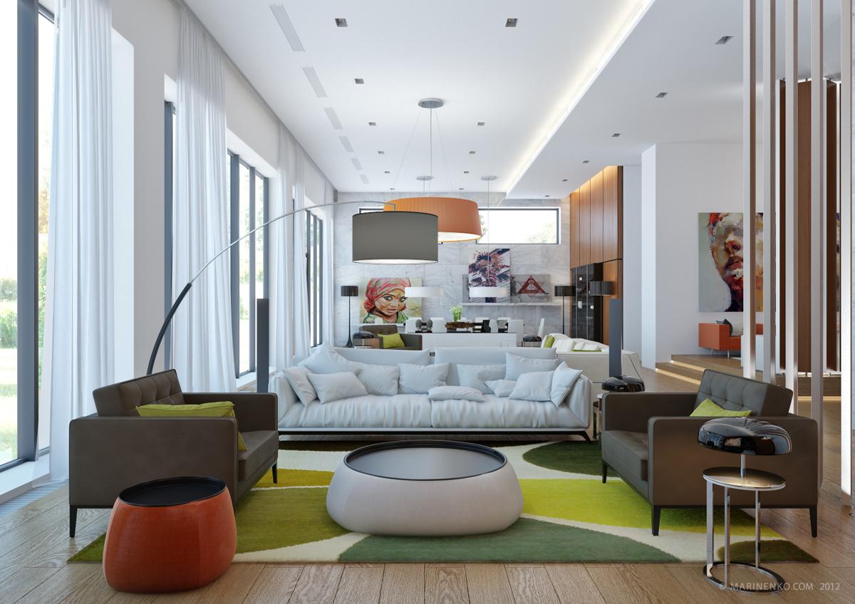 while minimalist living room decor
