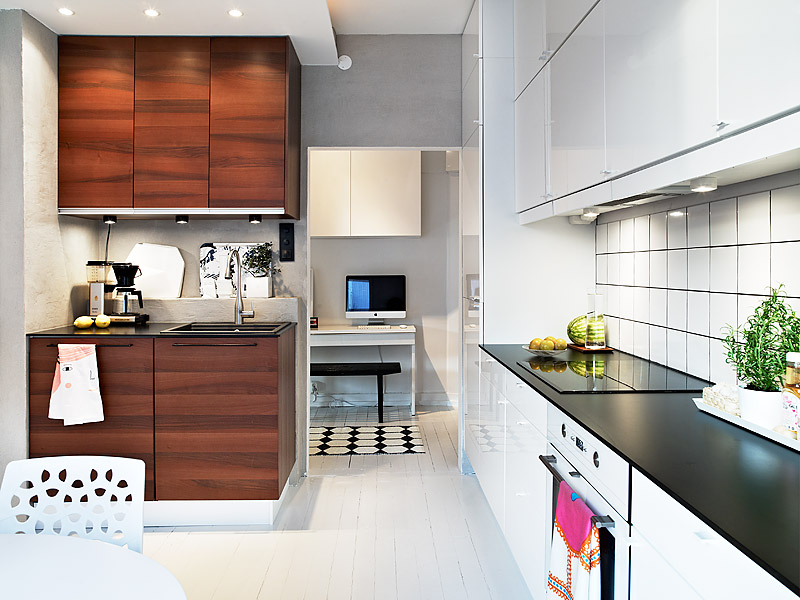 white swedish kitchen design