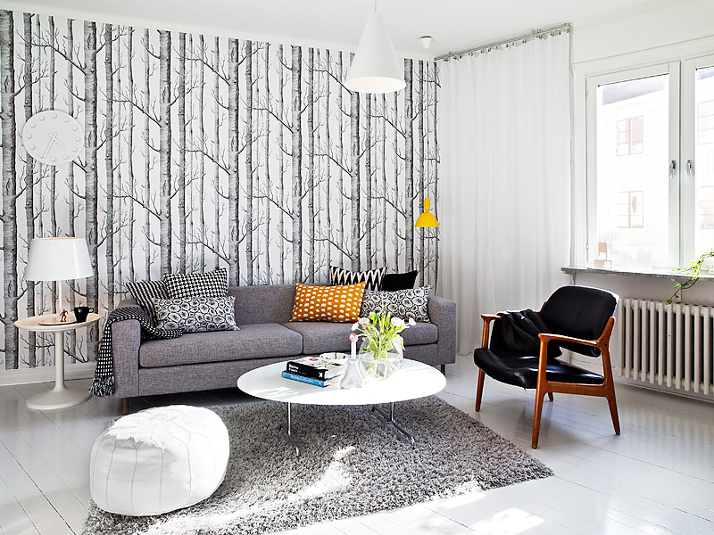 White Swedish Living Room