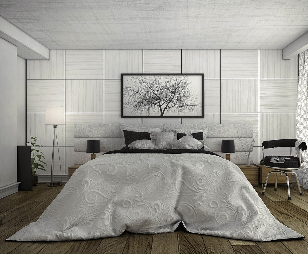 white feminine bedroom design