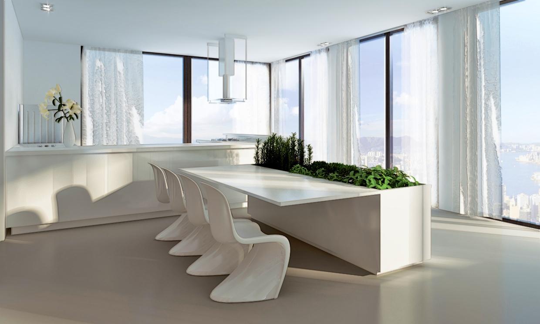 white modern dining room furniture