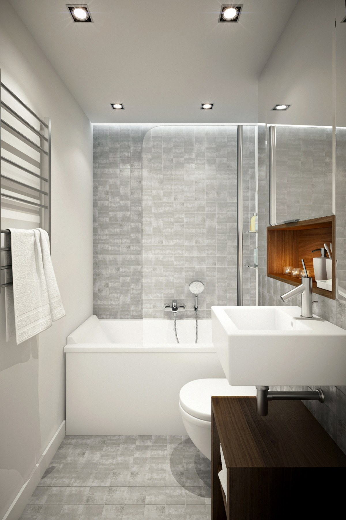 small luxury gray bathroom decor