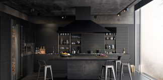 contemporary dark kitchen design