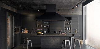 contemporary dark kitchen design